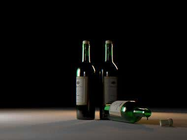 wine render