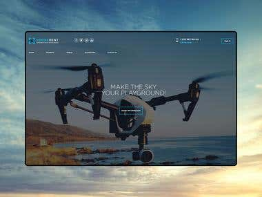 Web Design for Drone Rental Company
