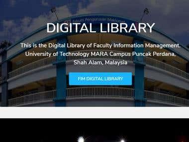 Digital Library Website
