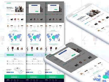 Traveler Website Design.