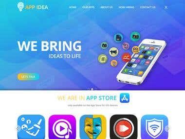 Mobile App Development Company Website Design