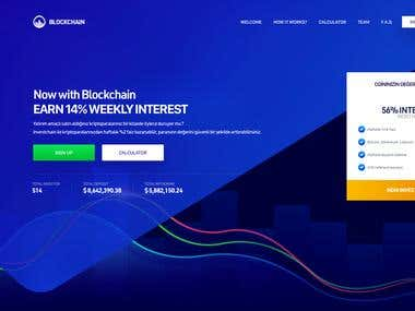 ICO Investment Landingpage