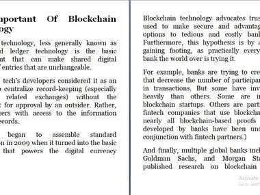Block Chain Content