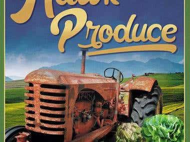 Hawk Produce- proposal label