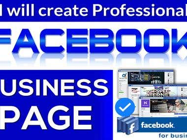 I Will Create A Professional Facebook Business Page