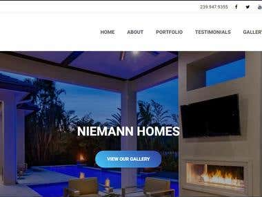 Construction Website ( http://www.niemannhomes.com )