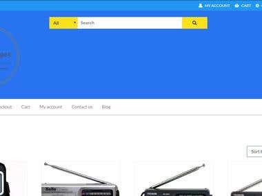 Wordpress Commerce website
