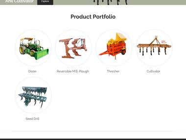 Informative website for an agriculture equipments