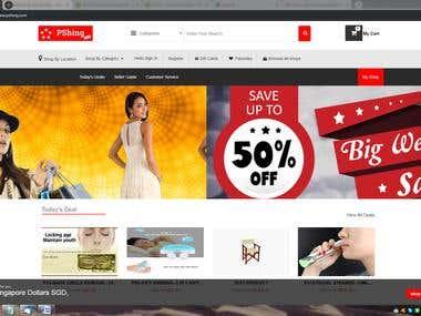 Pshing Ecommerce Website
