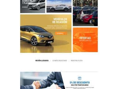 Diseño y desarrollo de Ecommerce Rent a Car Alicante.