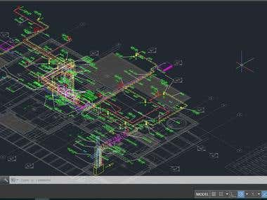 HVAC AUTOCAD PROJECT - Cooling and heating for MOSQUE -