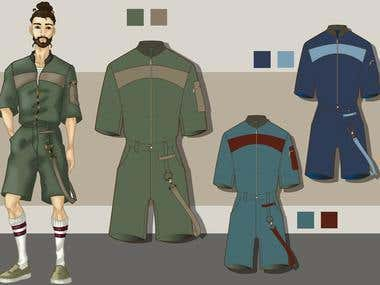 MEN JUMPSUIT (SKETCH AND FLAT)