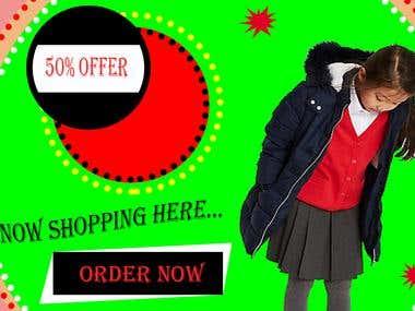 Shopping Banner design