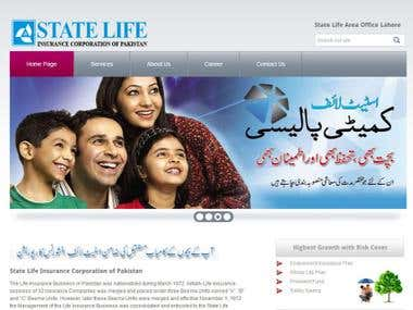 Statlife Website Design