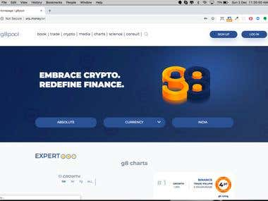 G8POOL CRYPTO SITE - PSD TO HTML