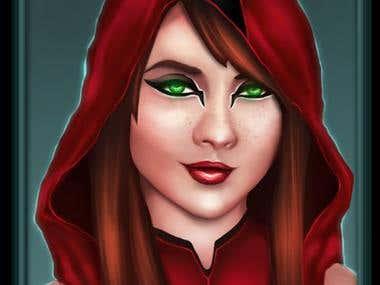 Ylva champion hero character concept