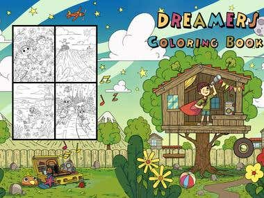 Dreamers coloring book