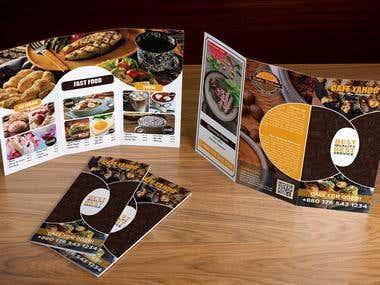 3 Folded brochure