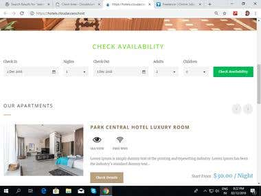 Hotel Booking WordPress Website