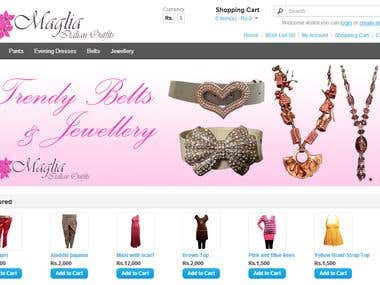Website Design for Meglia Outfits