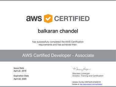 AWS Certified Developer - Associate certificate