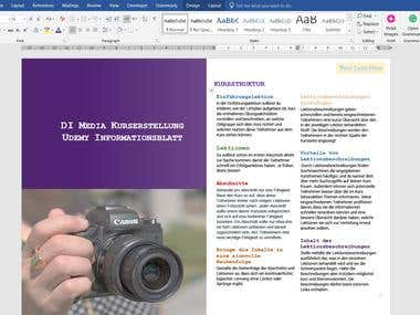 Formatted Word document
