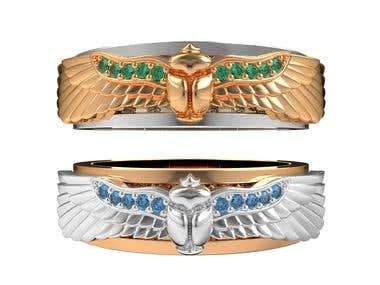 Scarab ring design
