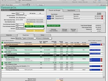 Project Costing System- Public Relations