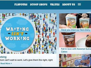 Benjerry Advertisement Website
