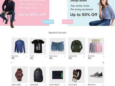 Shopping website e-Commerce