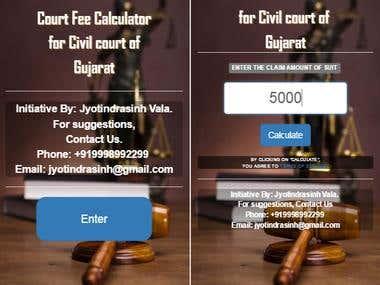 Court Fee Calculator
