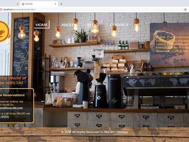 Promo for Cafe Design Concept