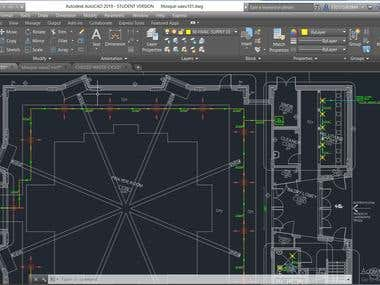 Cooling and Heating distribution using AUTOCAD