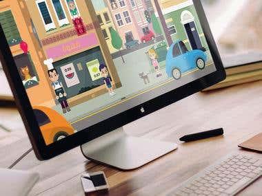 Design and Illustration of online game for Leo Burnett Dubai