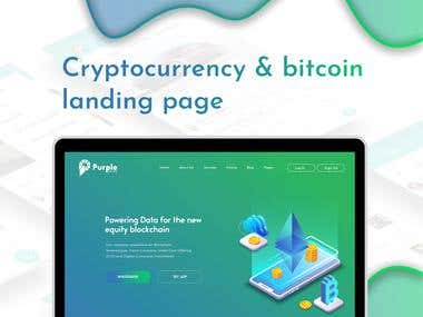 Crypto Currency Website UI