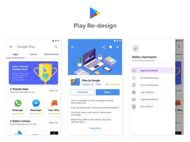 PlayStore Re-design Concept