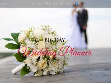 wedding wordpress website built with ELEMENTOR