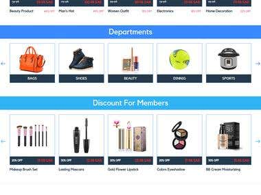 Multi-vendor eCommerce website With Android, iOS apps.