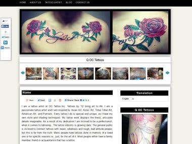 Tattoo website by wordpress