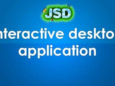 Interactive desktop application