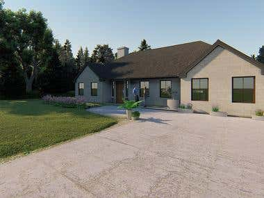 House Render - External