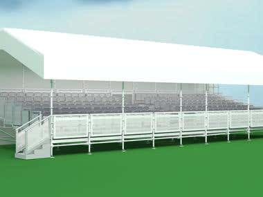 Event Granstand Structure Visual