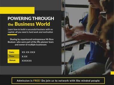 Invitacion de negocios en powerpoint