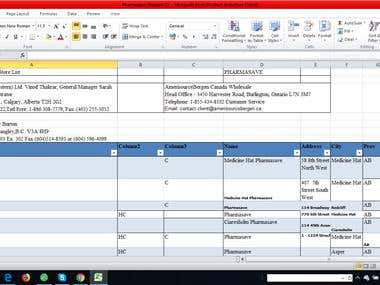 Manual Typing of Companies Data from PDF Files to Excel File