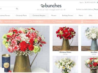 Bunches an eCommerce website
