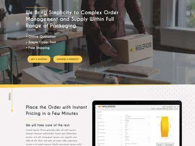 Wholepacks Website UI/UX design