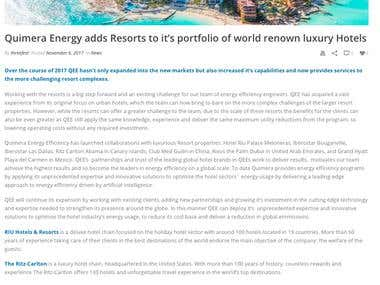 Article for energy efficiency company