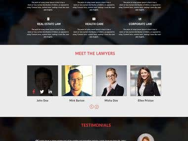Responsive website template - law firm