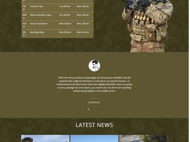Military-equipment website