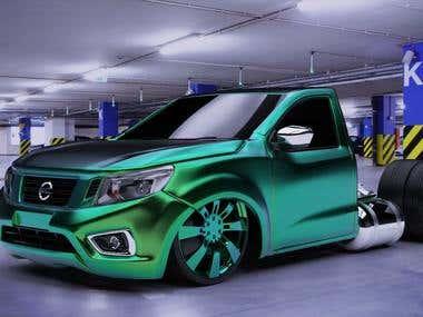 3D Truck Modeling & Rendering 3D Print Ready
